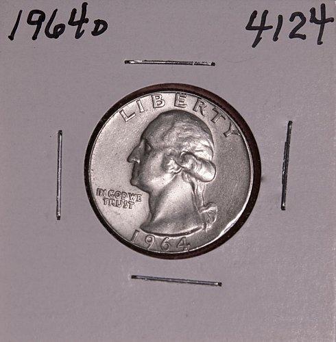 1964 D WASHINGTON QUARTER #4124