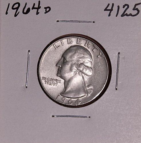 1964 D WASHINGTON QUARTER #4125