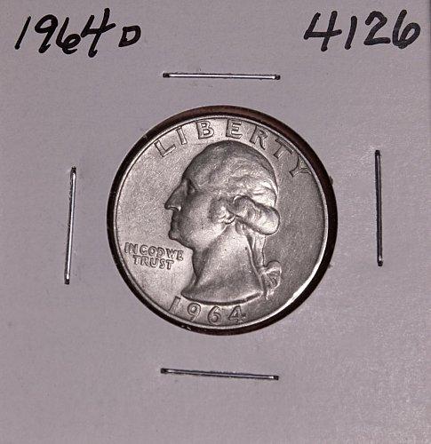 1964 D WASHINGTON QUARTER #4126