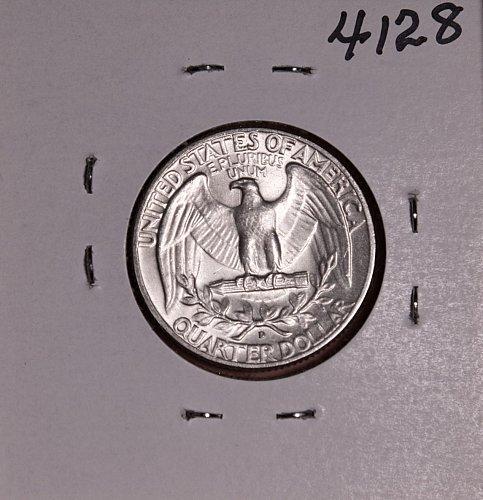 1964 D WASHINGTON QUARTER #4128