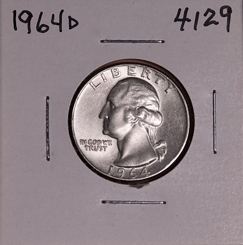 1964 D WASHINGTON QUARTER #4129