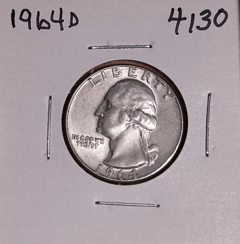 1964 D WASHINGTON QUARTER #4130