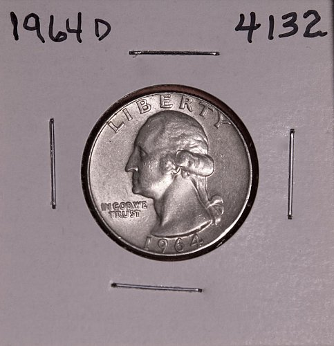 1964 D WASHINGTON QUARTER #4132
