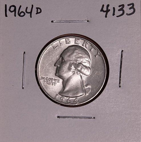 1964 D WASHINGTON QUARTER #4133