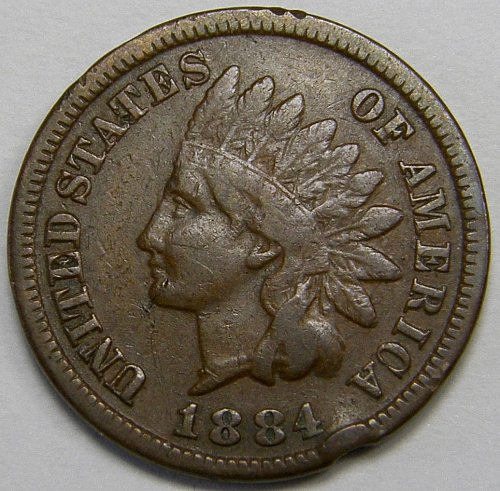1884 P Indian Head Cent #7
