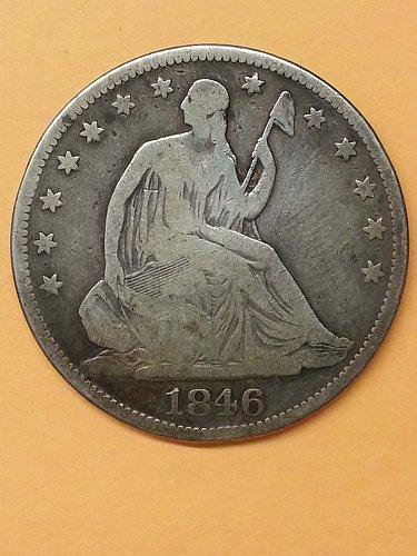 1846 Seated Liberty Half