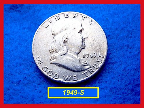 1949-S  Franklin Half Dollars ––– Circulated (#1271)