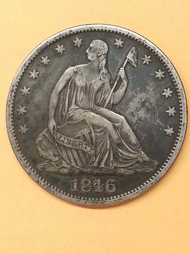 1846-O Seated Liberty Half