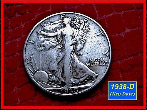 1938-D  KEY DATE Liberty Walking Half Dollar –––  (#1446)