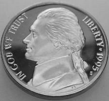 1995 S  PROOF  JEFFERSON NICKEL