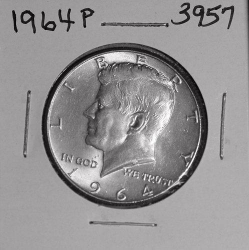 1964 P KENNEDY 90% SILVER HALF #3957