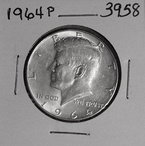 1964 P KENNEDY 90% SILVER HALF #3958