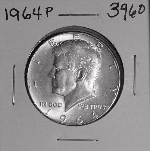 1964 P KENNEDY 90% SILVER HALF #3960