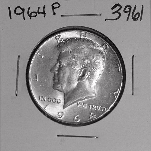 1964 P KENNEDY 90% SILVER HALF #3961