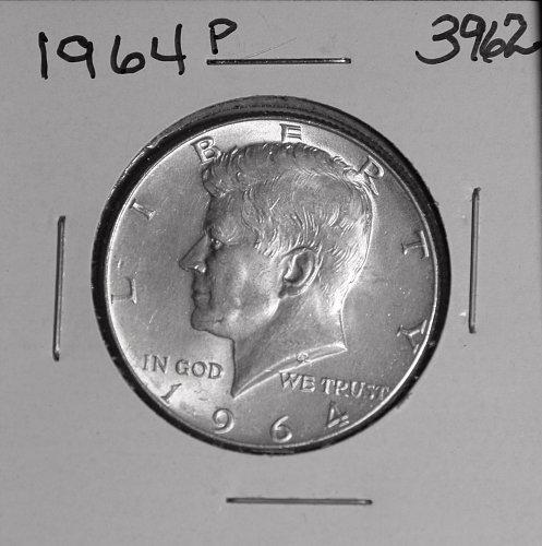 1964 P KENNEDY 90% SILVER HALF #3962