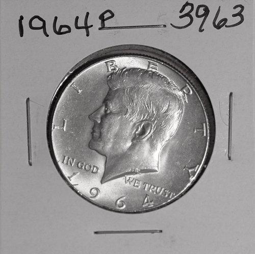 1964 P KENNEDY 90% SILVER HALF #3963
