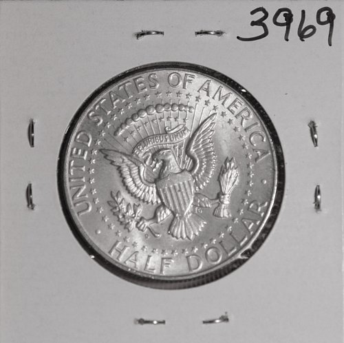 1964 D KENNEDY 90% SILVER HALF MS  #3969 FREE SHIPPING !