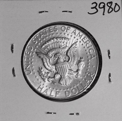 1964 D KENNEDY 90% SILVER HALF AU  #3980
