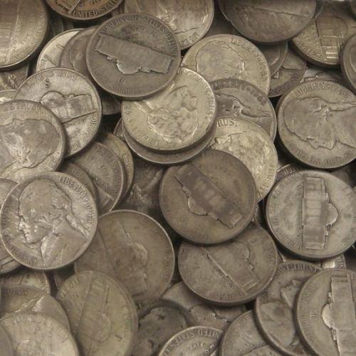 Roll of 40 35% silver war nickels