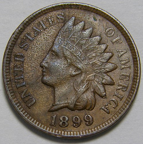 1899 Indian Head Cent #12 SNOW 2  RPD 8 & 9