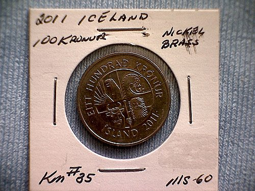 2011 ICELAND ONE HUNDRED KRONUR