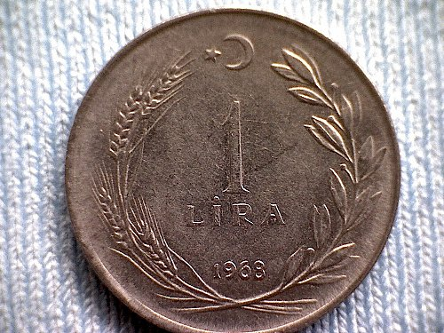 1968 TURKEY ONE LIRA
