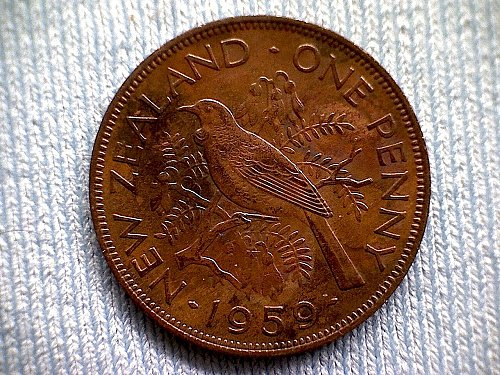 1959 NEW ZEALAND ONE PENNY