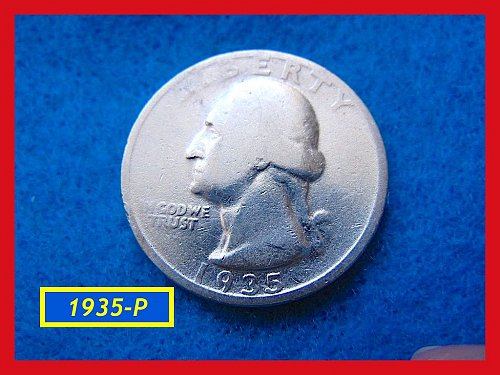 "1935-P  ""Circulated"" Washington Quarter ••• (#2472)"
