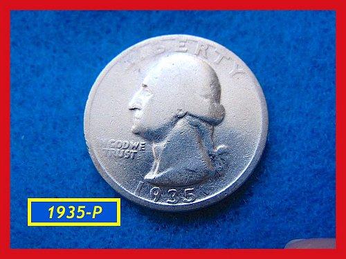 "1935-P  ""Circulated"" Washington Quarter ••• (#2472)"