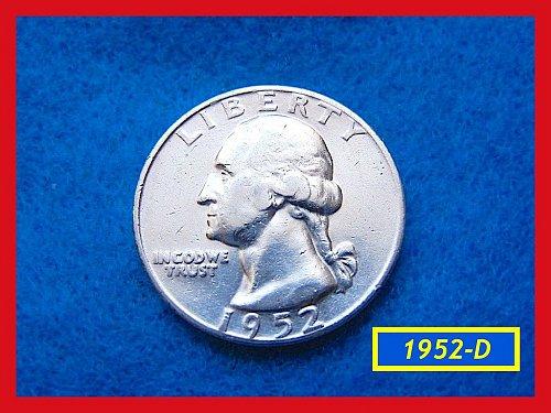 "1952-D  ""Circulated  VF-35"" Washington Quarter ••• (#2471)"