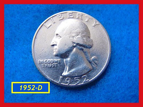"1952-D  ""Circulated"" Washington Quarter ••• (#2474)"