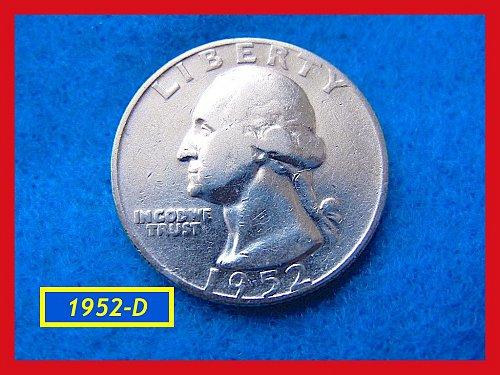 "1952-D  ""Circulated"" Washington Quarter ••• (#2474)"