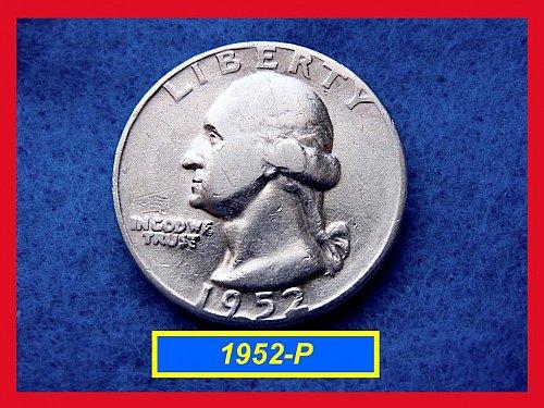 "1952-P  ""Circulated"" Washington Quarter ••• (#2476)"