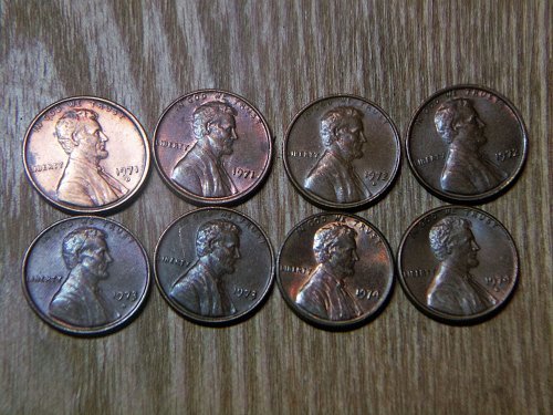1971 - 1974 P and D Mint Marks