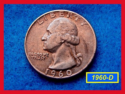 1960-D  Circulated Washington Quarter ••• (#2475)