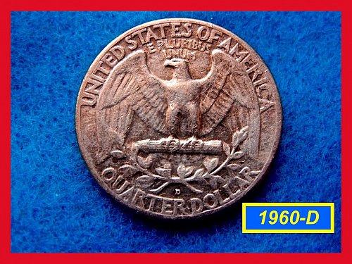 1960-D  Circulated Washington Quarter ••• (#2475)