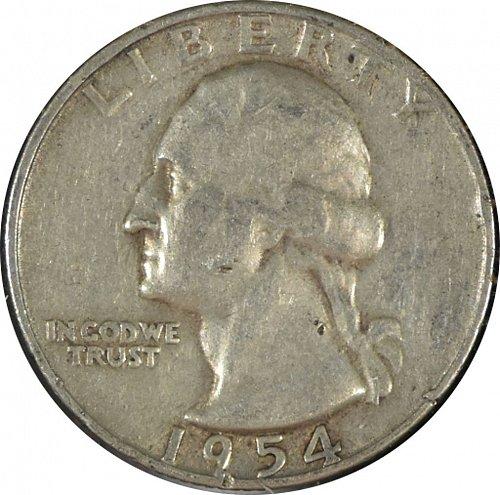 1954 S Washington Quarter, G 04  (Item 351)