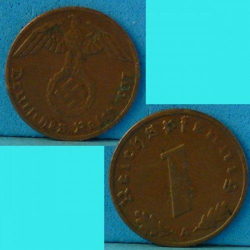 Germany 3rd Reich 1 Pfennig 1937 A km 89