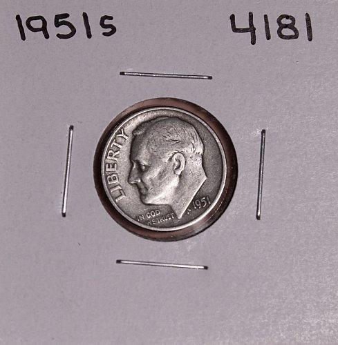 1951 S ROOSEVELT DIME #4181