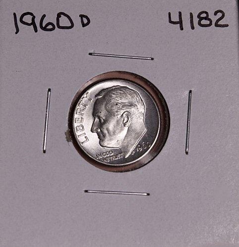 1960 D ROOSEVELT DIME #4182