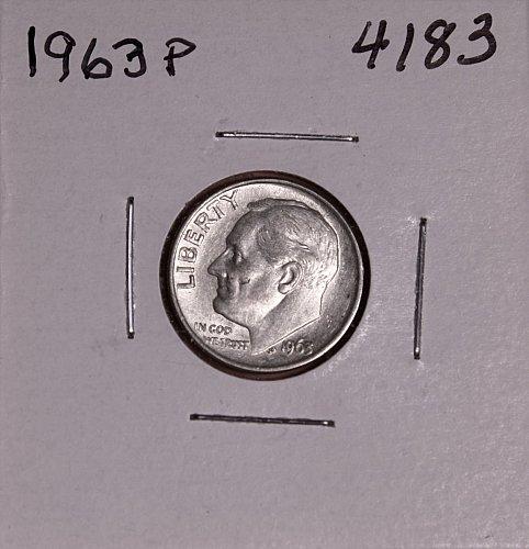 1963 P ROOSEVELT DIME #4183