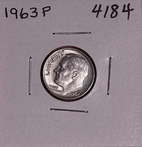 1963 P ROOSEVELT DIME #4184