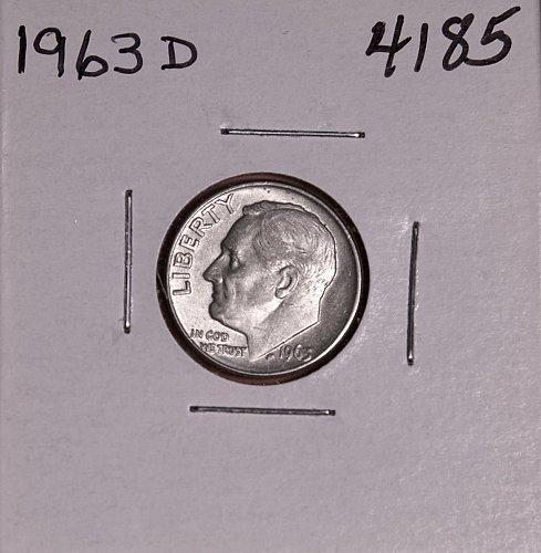 1963 D ROOSEVELT DIME #4185