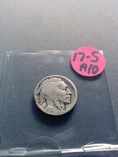 1917-S BUFFALO NICKEL -- RESTORED DATE