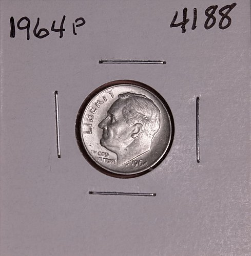 1964 P ROOSEVELT DIME #4188