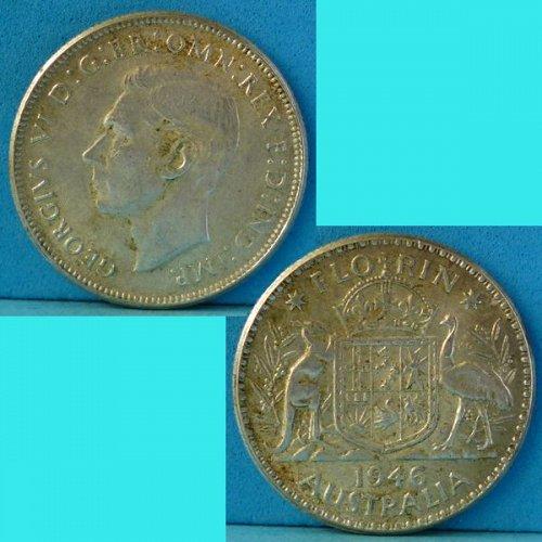 Australia Florin 1946 km 40a Silver