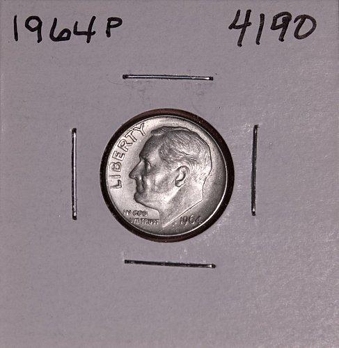 1964 P ROOSEVELT DIME #4190