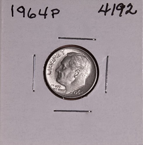 1964 P ROOSEVELT DIME #4192