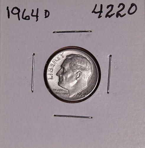 1964 D ROOSEVELT DIME #4220