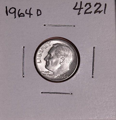 1964 D ROOSEVELT DIME #4221